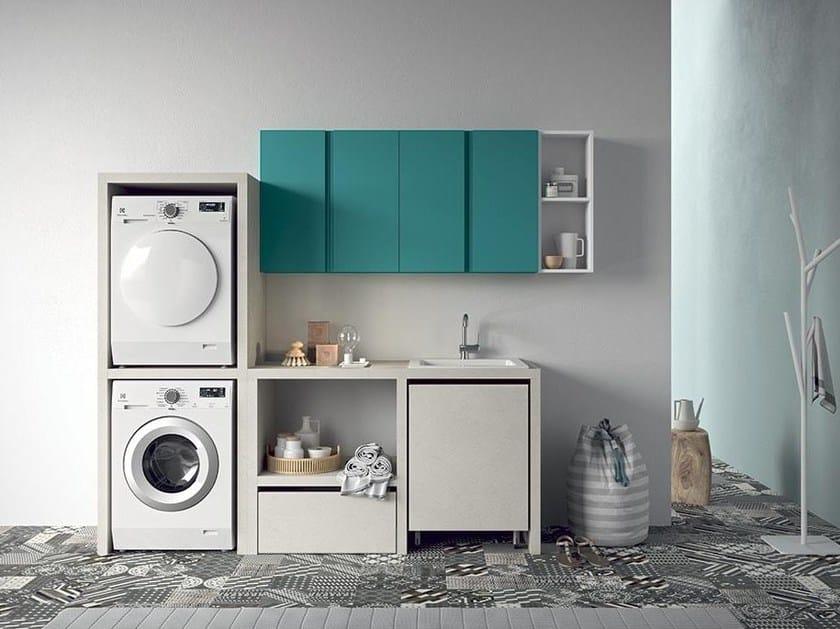 Idrobox mobile lavanderia componibile by birex - Arredo per lavanderia di casa ...