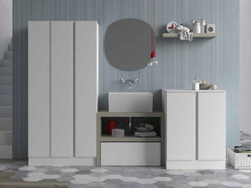 Sectional laundry room cabinet for washing machine IDROBOX | Laundry room cabinet for washing machine by Birex