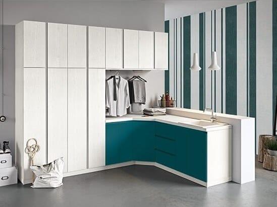 Mobile lavanderia componibile con ante a battente IDROBOX COMP. 11 by Birex