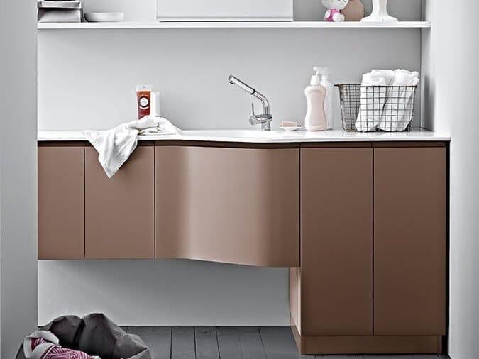 Mobile lavanderia laccato con lavatoio IDROBOX COMP. 16 by Birex