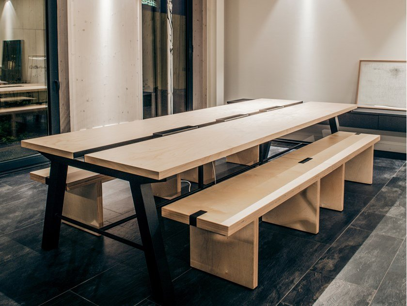 Rectangular table IENA | Wooden table by Manganèse Éditions