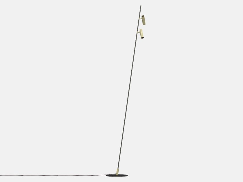 Lampada da terra per esterno a LED orientabile IFERROSI - PALO H3300-60+60 by Lucifero's
