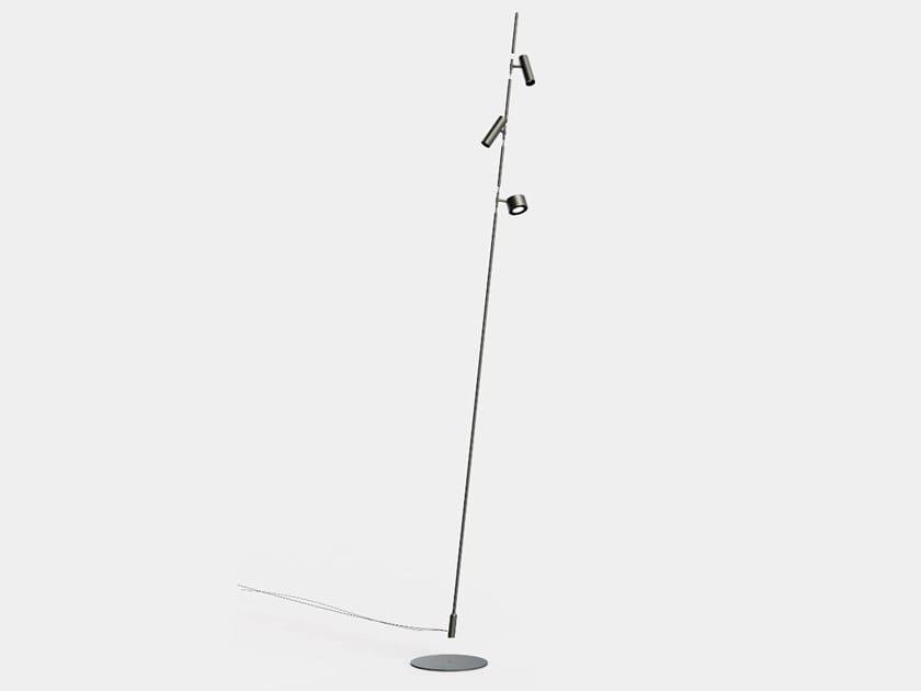Lampada da terra per esterno a LED orientabile IFERROSI SISTEMA by Lucifero's