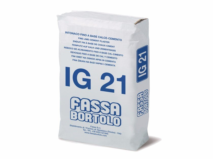 Hydraulic and hydrated lime based plaster IG 21 by FASSA