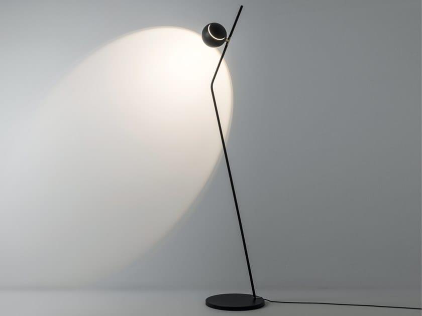 Lampada da terra a luce diretta e indiretta orientabile in metallo IGLOO   Lampada da terra by Rossini Illuminazione