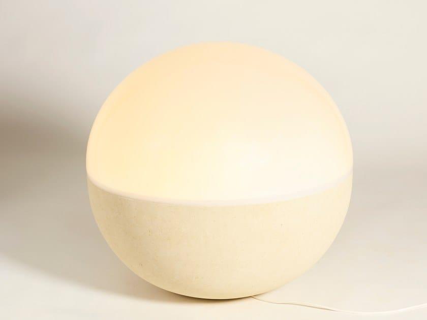 Lampada da terra per esterno in pietra leccese IGLOO by PIMAR