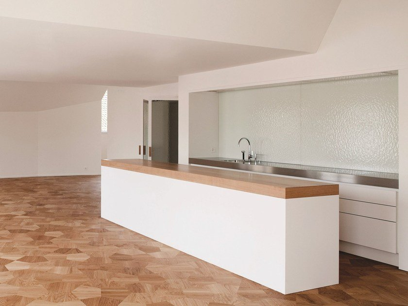 Lacquered kitchen with island IGLOO PROG.015 by Strato Cucine