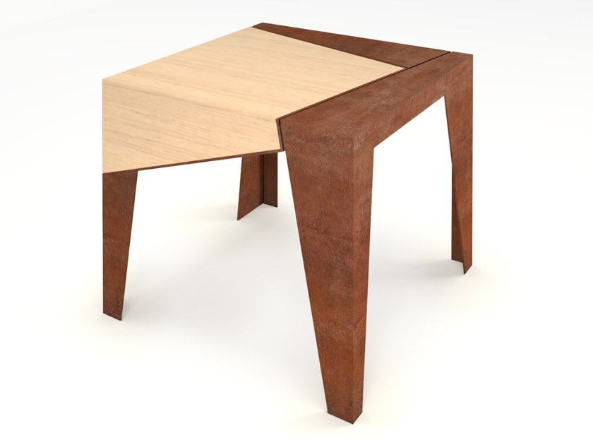 Square Corten™ coffee table IGLU by TrackDesign