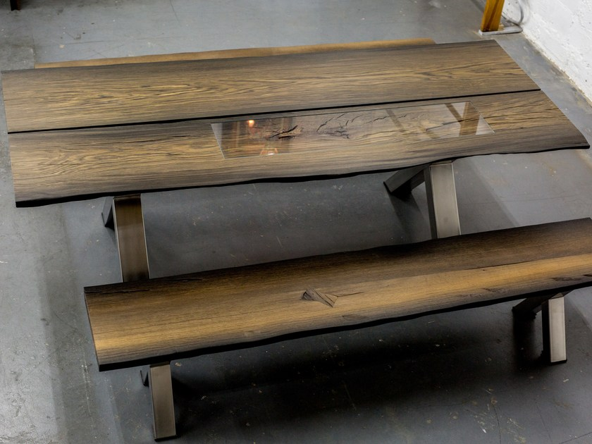 Bog oak bench IGOR | Bench by EDWOOD