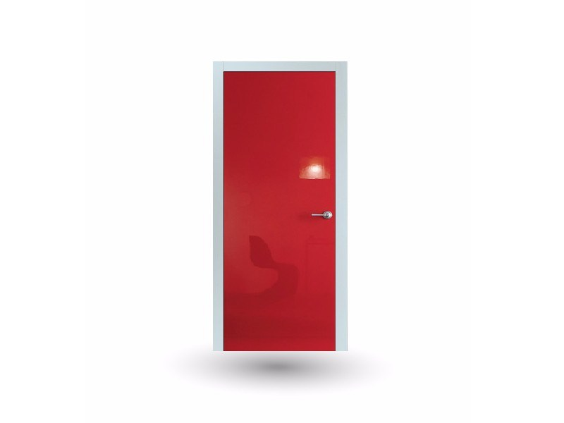 Hinged lacquered door IKI 80G SHINE ROSSO by GD DORIGO