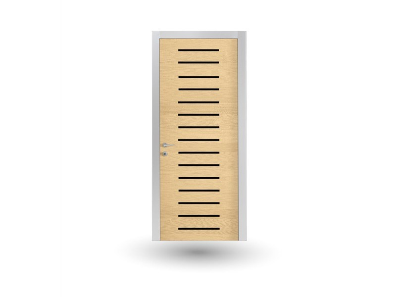 Hinged wooden door IKI 82G FRASSINO GHIACCIO by GD DORIGO