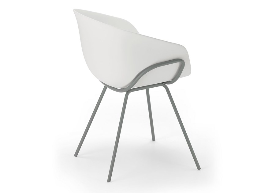 Plastic chair with armrests IKO CHAIR / 05A by Alias