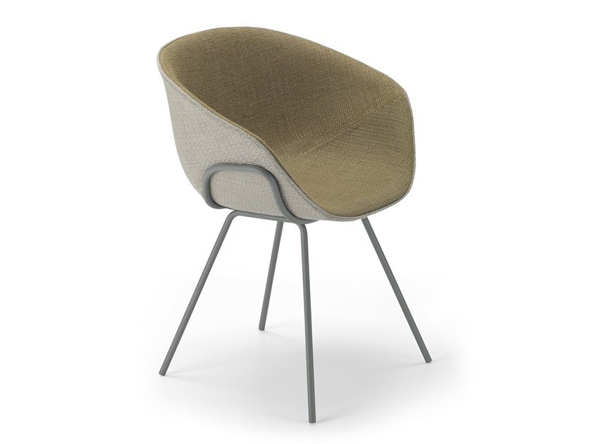 Fabric chair with armrests IKO SOFT CHAIR / 06A by Alias