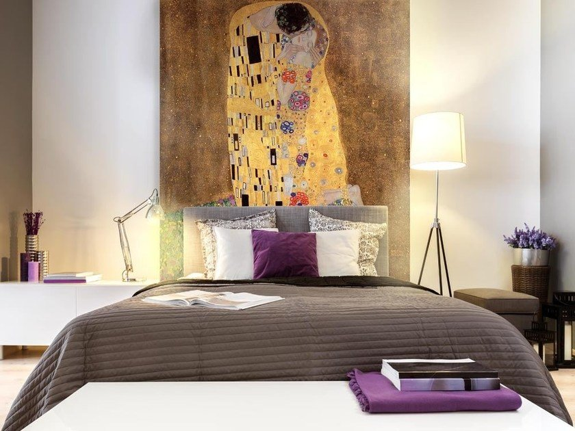Nonwoven wallpaper THE KISS - GUSTAV KLIMT by MyCollection.it