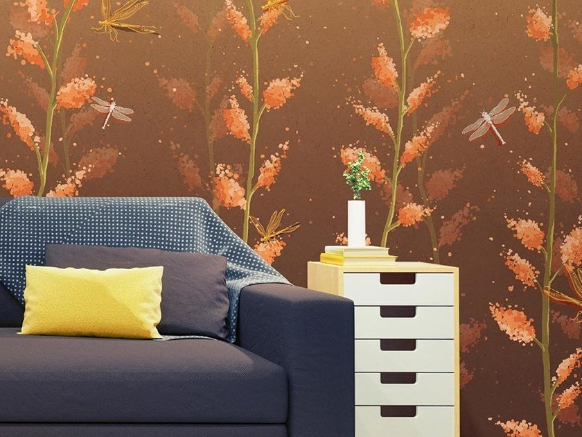 Oriental wallpaper, PVC free, eco, washable IL BATTITO D'ALI by Wallpepper