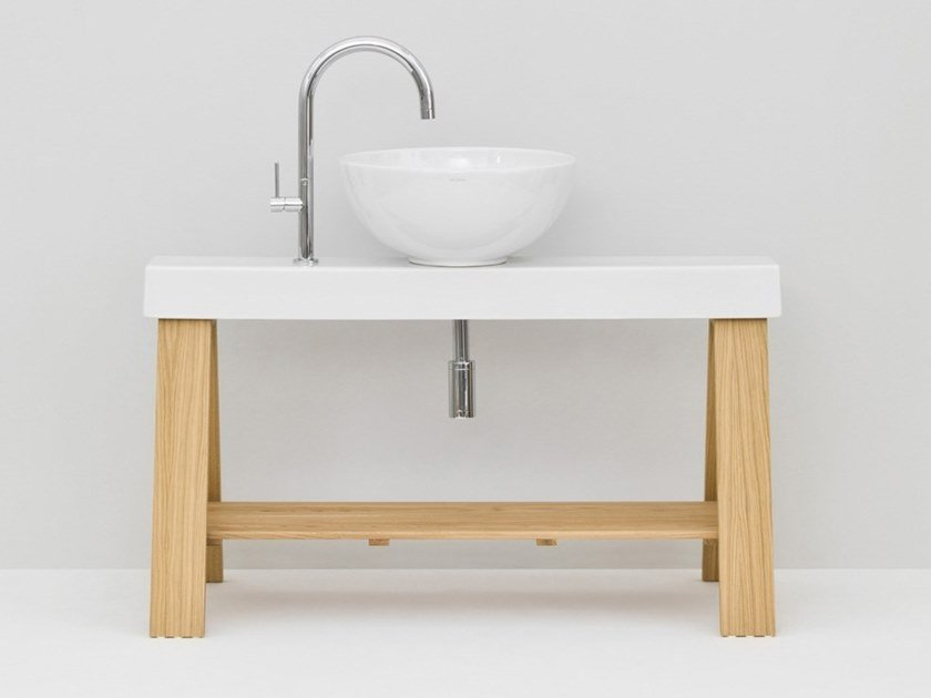 Floor-standing single vanity unit IL CAVALLETTO by Artceram