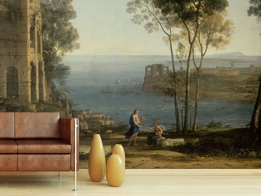Trompe l'oeil wallpaper IL GOLFO DI BAIA by Wallpepper