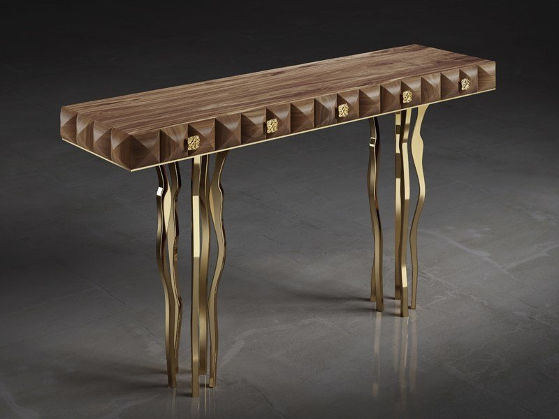 Wooden console table with drawers IL PEZZO 10 | Console table by Il Pezzo Mancante