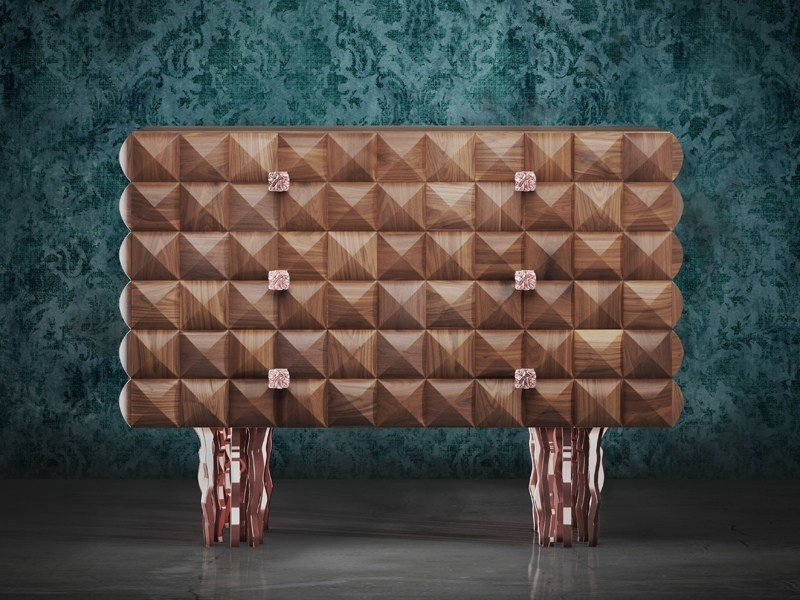 Wooden chest of drawers IL PEZZO 10 | Chest of drawers by Il Pezzo Mancante