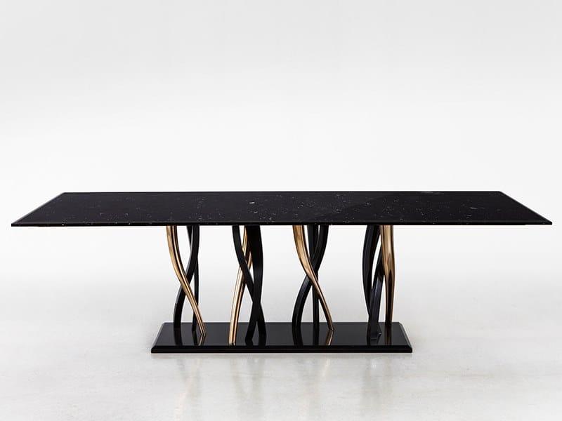 Tavolo da pranzo rettangolare in marmo IL PEZZO 8 | Tavolo in marmo by Il Pezzo Mancante