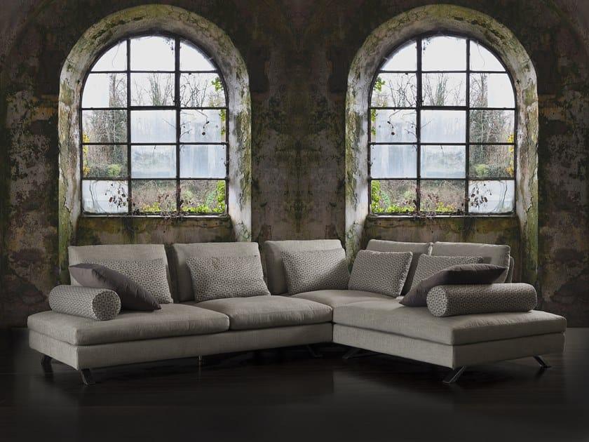 Corner fabric sofa IL VOLO | Corner sofa by Flexstyle