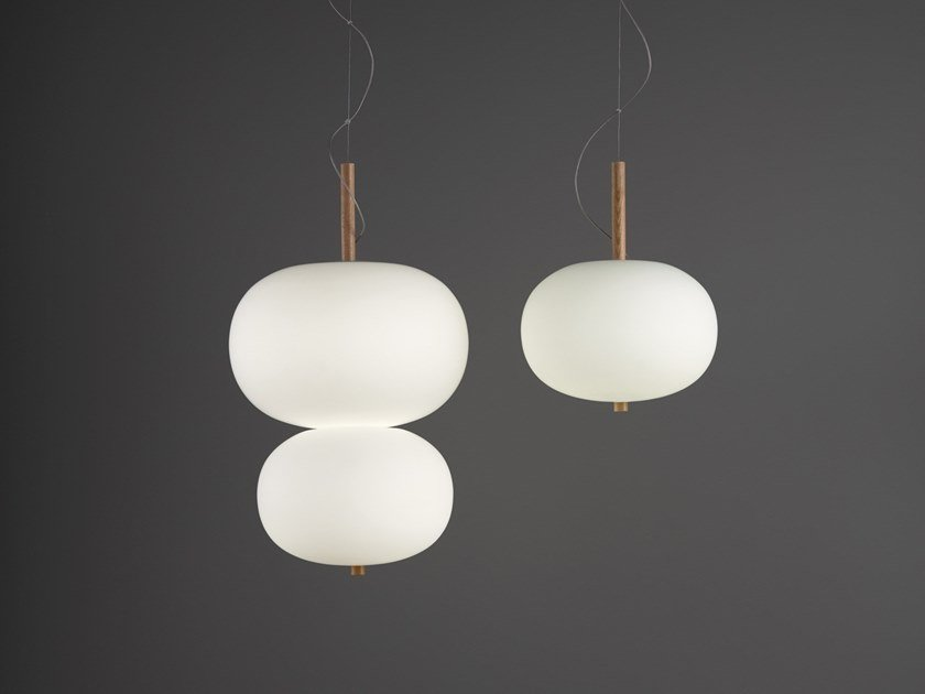 LED direct light opal glass pendant lamp ILARGI | Pendant lamp by Grok