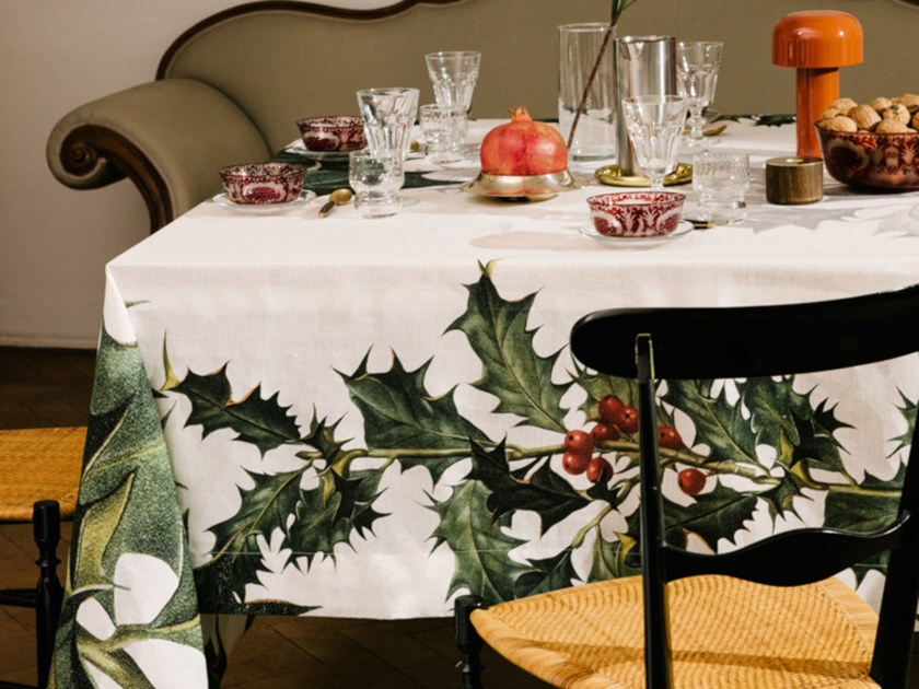 Linen tablecloth ILEX   Tablecloth by The NapKing
