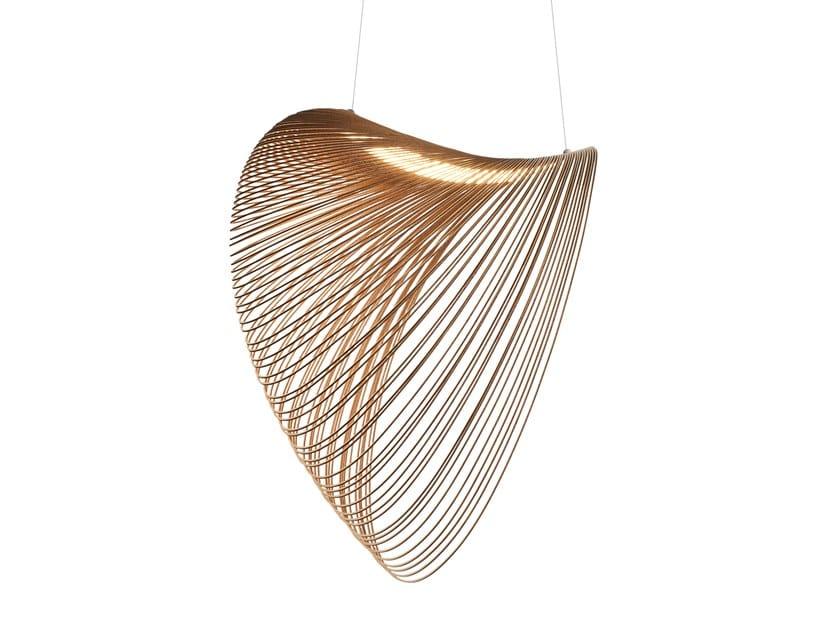 LED multi-layer wood pendant lamp ILLAN by LUCEPLAN
