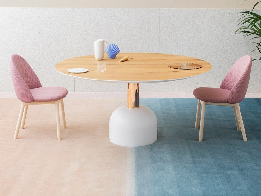 Lacquered round table ILLO DINING by Miniforms