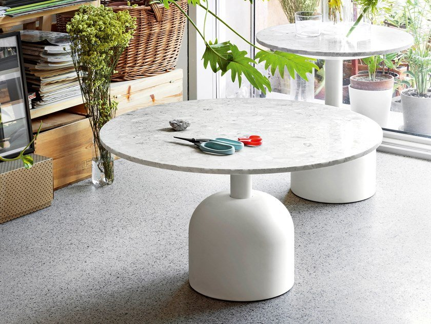 Round natural stone coffee table ILLO | Round coffee table by Miniforms