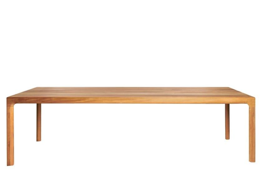 Rectangular teak dining table ILLUM | Teak table by TRIBÙ