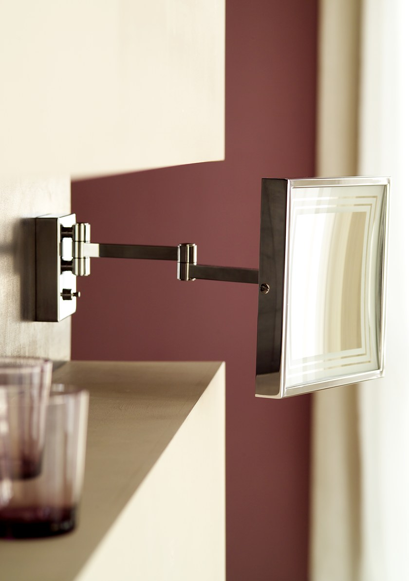 mirror with integrated lighting. Rectangular Wall-mounted Shaving Mirror With Integrated Lighting ILLUSION 908252002 | By Pomd