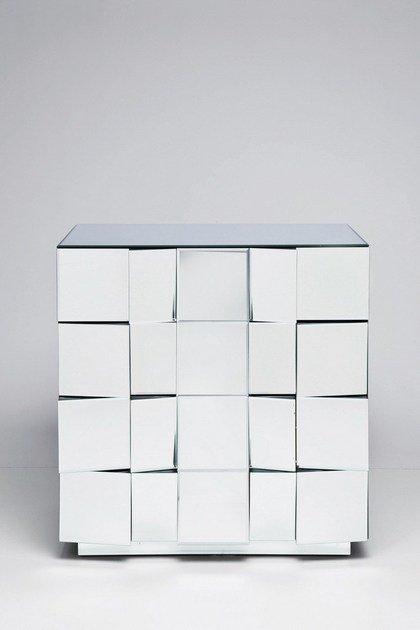 Specchio A IllusionCassettiera design Vetro Kare In 0wON8nPkX