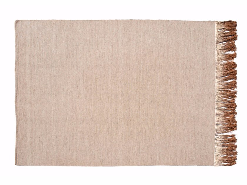 Handmade rectangular wool rug ILLUSION | Rug by ROCHE BOBOIS