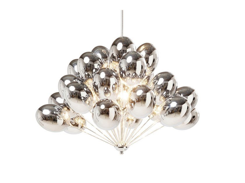 Glass and steel ceiling lamp SILVER BALOONS | Ceiling lamp by KARE-DESIGN