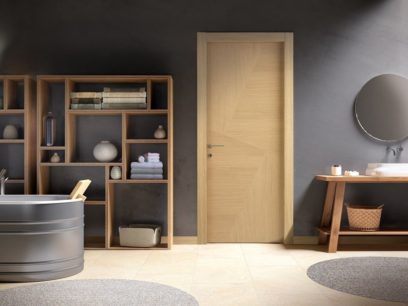 Hinged wooden door IMAGO 630I ROVERE GHIACCIO by GD DORIGO