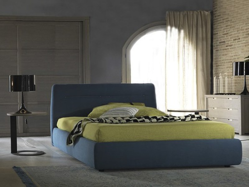 Fabric double bed with removable cover IMBOTTITI | Bed with removable cover by Devina Nais