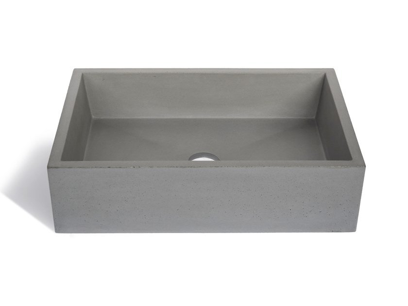 Vasque A Poser Carre Vasque à Poser Rectangulaire En Matériaux Cimentaires Immissio 60 By Urbi  Et Orbi