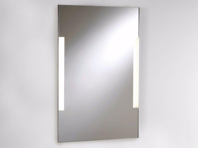 Specchio in stile moderno da parete con illuminazione integrata