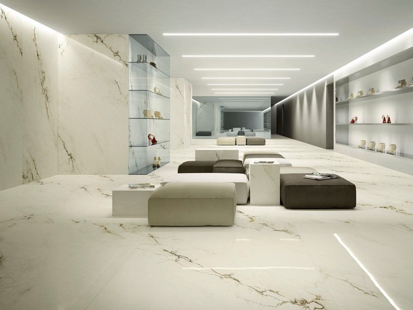 Porcelain Stoneware Wallfloor Tiles With Marble Effect Imperial