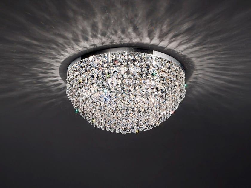 Lampada da soffitto incandescente in metallo con cristalli IMPERO & DECO VE 836 by Masiero