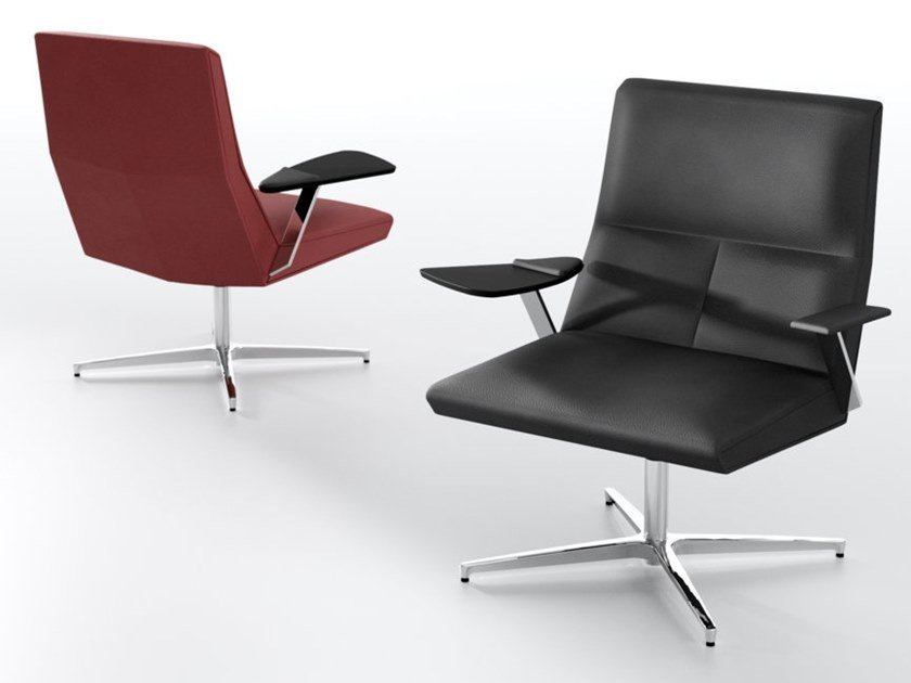 Leather executive chair with 4-spoke base IMPERO | Executive chair by IBEBI