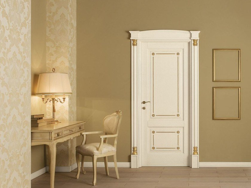 Lacquered solid wood door IMPERO by LEGNOFORM