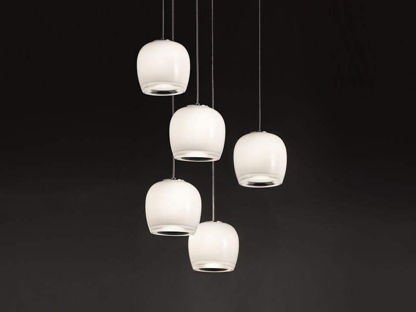 Glass pendant lamp IMPLODE SP 16 by Vetreria Vistosi