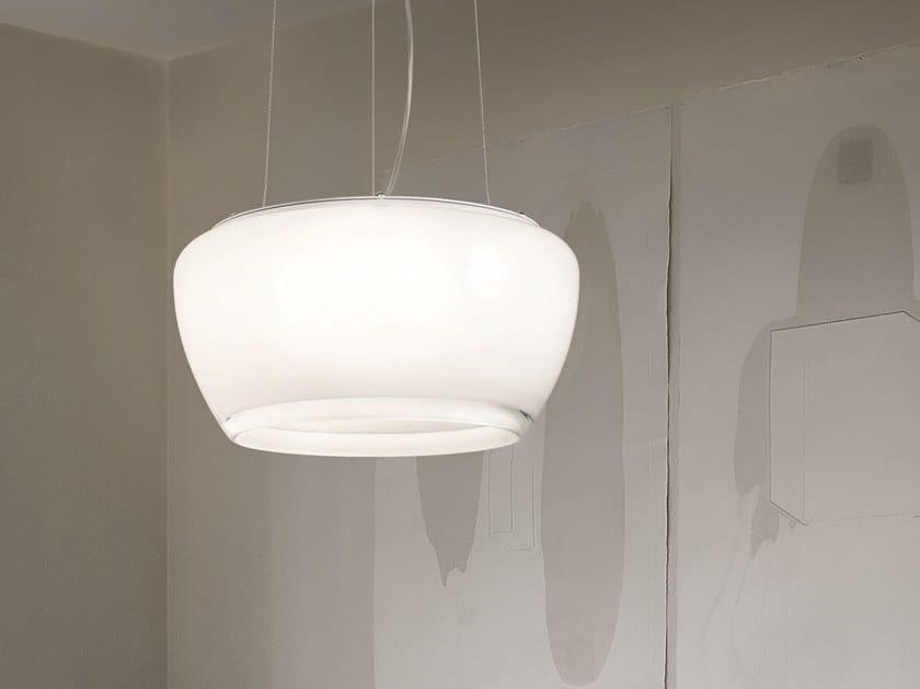 Glass pendant lamp IMPLODE SP 50 by Vetreria Vistosi