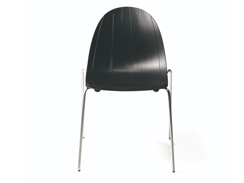 Stackable polypropylene chair IMPOSSIBLE WOOD | Chair by Moroso