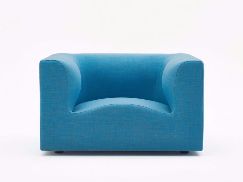 Fabric garden armchair with armrests IMPRONTA | Garden armchair by Varaschin