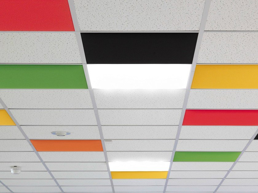 Acoustic ceiling tiles IN by Caimi Brevetti