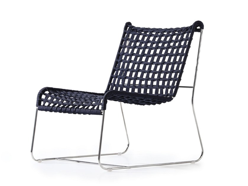 Sled base garden rope easy chair IN-OUT | Easy chair by arrmet