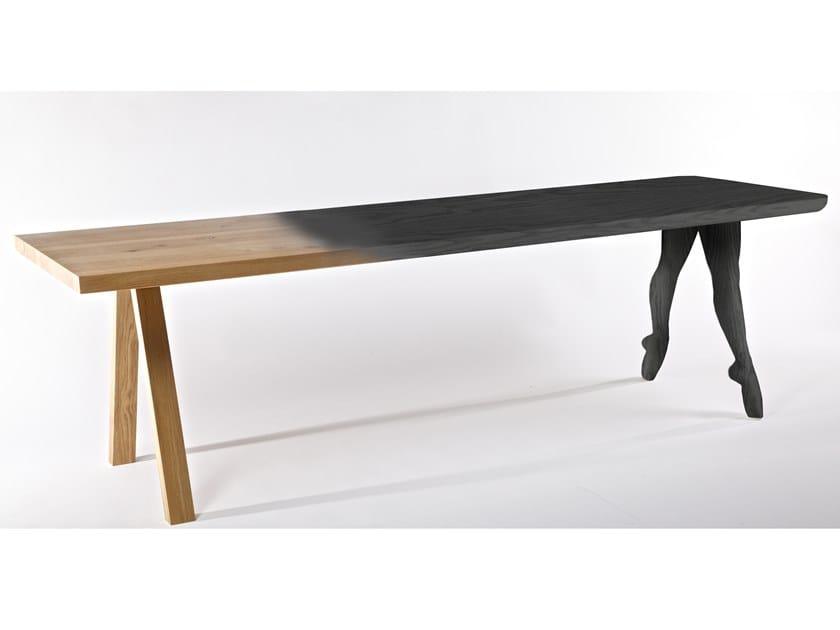 Rectangular oak table IN PUNTA DI PIEDI by Riva 1920
